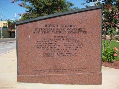 Rough Riders Marker (West face) image. Click for full size.