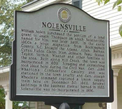 Nolensville Marker Photo, Click for full size
