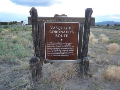 Vasquez de Coronado's Route Marker Photo, Click for full size