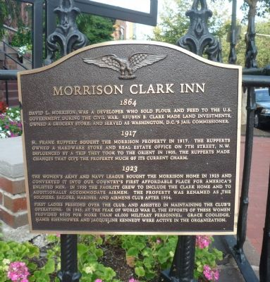 Morrison-Clark Historic Inn and Restaurant Marker image. Click for full size.