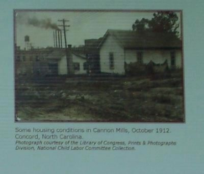 Some housing conditions in Cannon Mills, October 1912. image. Click for full size.