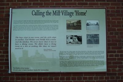 Calling the Mill Village Home Marker image. Click for full size.