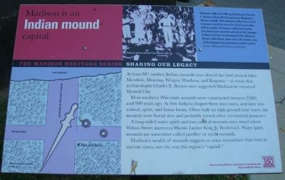 Madison is an Indian mound capital Marker image. Click for full size.