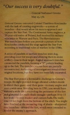 The Patriots Lay Siege to the Star Fort Marker image. Click for full size.