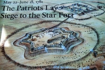 Artist's Representation of the Star Fort and Ninety Six (from the Marker) image. Click for full size.