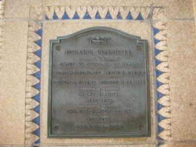 Building Committee Plaque image. Click for full size.