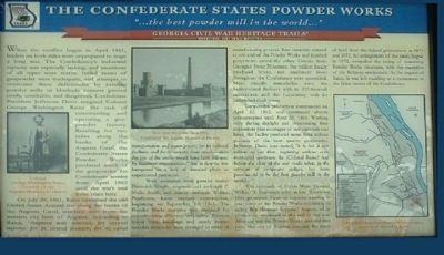 The Confederate States Powder Works Marker image. Click for full size.