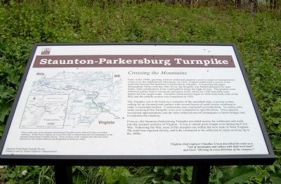 Staunton-Parkersburg Turnpike Marker image. Click for full size.