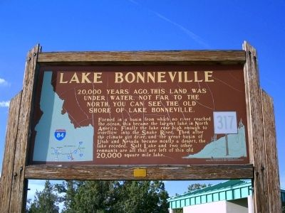 Lake Bonneville Marker image. Click for full size.