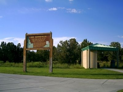 Lake Bonneville Marker at Rest Area image. Click for full size.