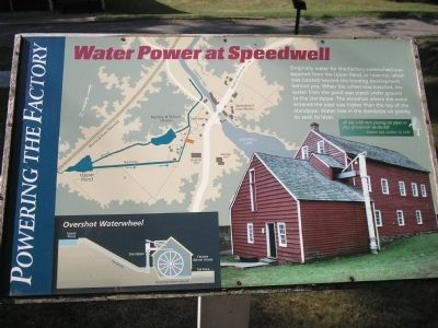 Water Power at Speedwell Marker image. Click for full size.