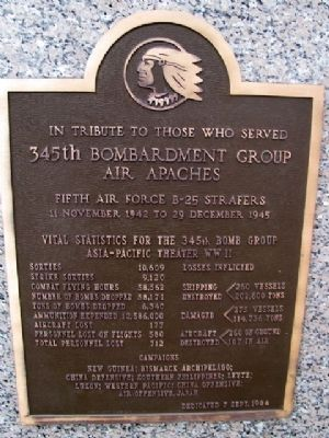 345th Bombardment Group Marker Photo, Click for full size