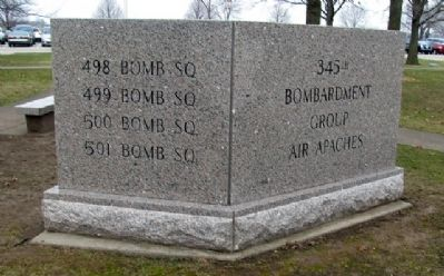 345th Bombardment Group Marker (Back) Photo, Click for full size