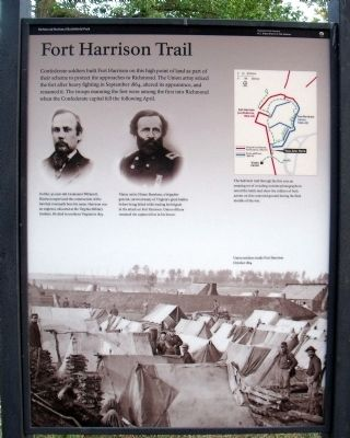 Fort Harrison Trail Marker image. Click for full size.