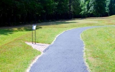 Paved Trail Leading to Approach Trench Marker Photo, Click for full size