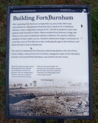 Building Fort Burnham Marker image. Click for full size.