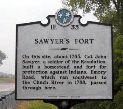 Sawyer's Fort Marker image. Click for full size.