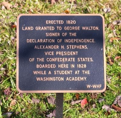 Land Granted to George Walton Marker image. Click for full size.