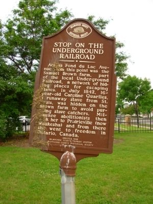 Stop on the Underground Railroad Marker Photo, Click for full size