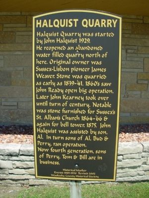 Halquist Quarry Marker image. Click for full size.
