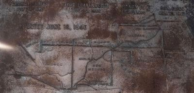 The Mormon Battalion Marker Map Closeup Photo, Click for full size