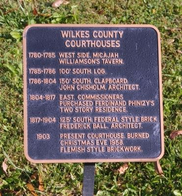 Wilkes County Courthouses Marker image. Click for full size.
