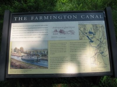 The Farmington Canal Marker image. Click for full size.
