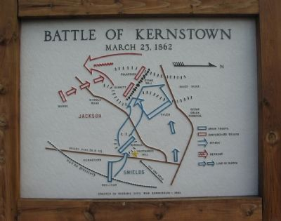 Battle of Kernstown Map image. Click for full size.