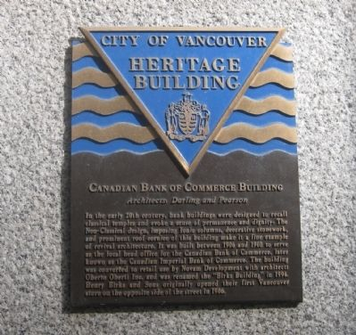 Canadian Bank of Commerce Building Marker image. Click for full size.