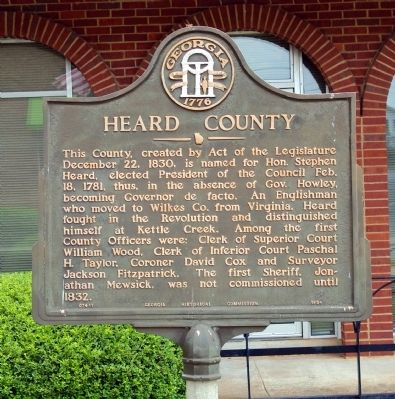 Heard County Marker image. Click for full size.