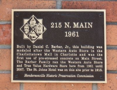 215 N. Main Marker image. Click for full size.