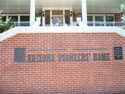 Arizona Pioneers' Home Marker image. Click for full size.