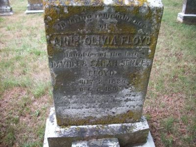 Grave of Anne Olivia Floyd, Confederate Spy Photo, Click for full size