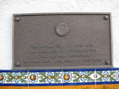 Rotary Club Plaque image. Click for full size.