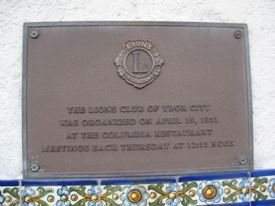 Lions Club Plaque image. Click for full size.
