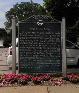 Fort Omaha Marker Photo, Click for full size