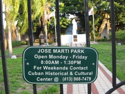 Jose Marti Park Hours image. Click for full size.