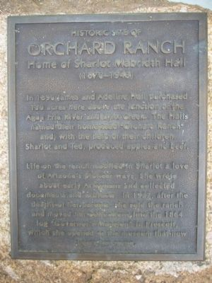 Historic site of Orchard Ranch Marker image. Click for full size.