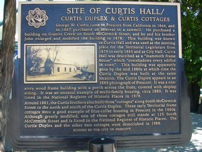 Site of Curtis Hall Marker image. Click for full size.