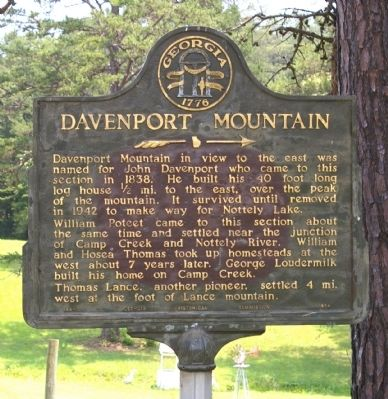 Davenport Mountain Marker image. Click for full size.