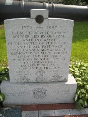 Stony Point Cannon Memorial Marker image. Click for full size.