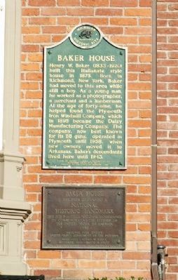Baker House Markers image. Click for full size.