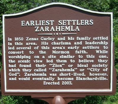 Earliest Settlers Marker image. Click for full size.