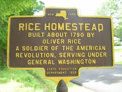 Rice Homestead Marker image. Click for full size.