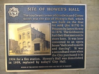 Site of Howey's Hall Marker image. Click for full size.