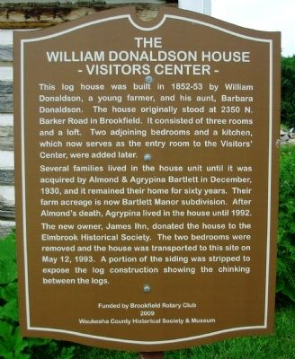 William Donaldson House Marker image. Click for full size.