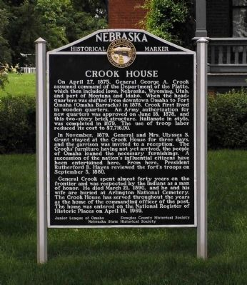 Crook House Marker image. Click for full size.