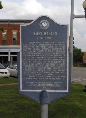 James Harlan Marker image. Click for full size.