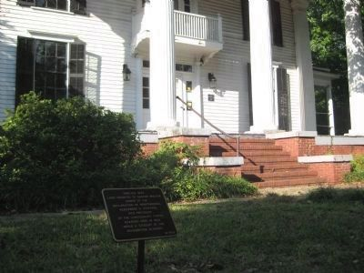 Marker in front of the Tarver-Maynard House image. Click for full size.