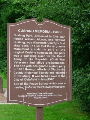 Cushing Memorial Park Marker Photo, Click for full size